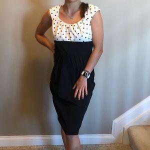 Dress Barn black and white polka dot dress